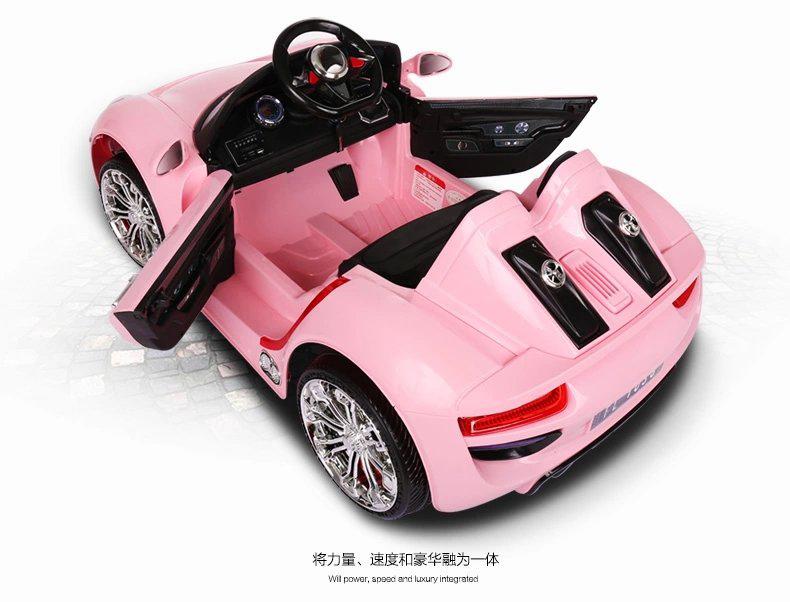 Coche electrico infantil Porsche style rosa apertura de puertas