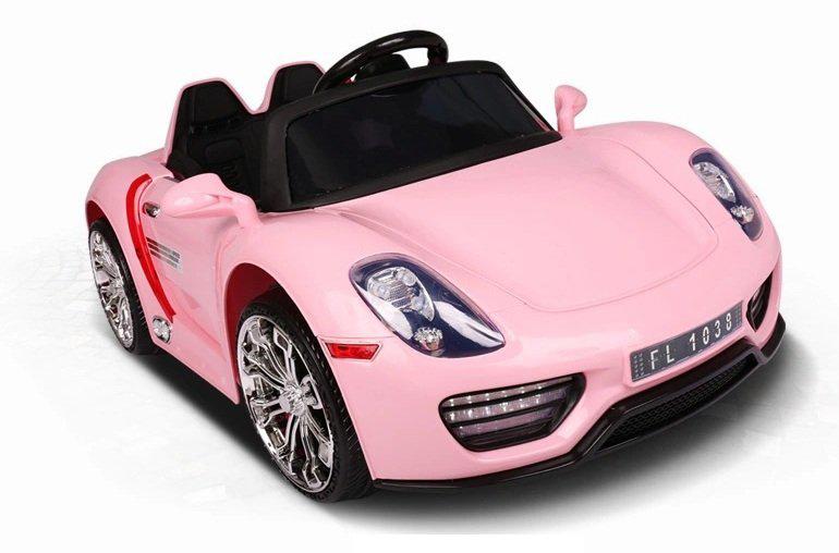 Coche electrico para niños Porsche style rosa