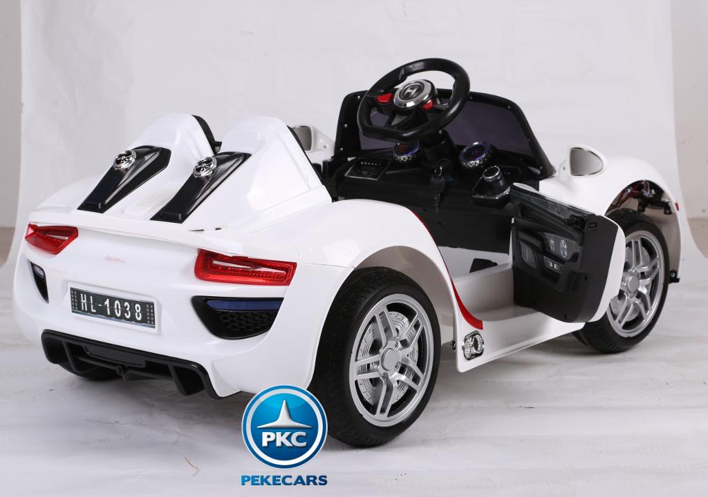Coche electrico infantil Porsche style blanco