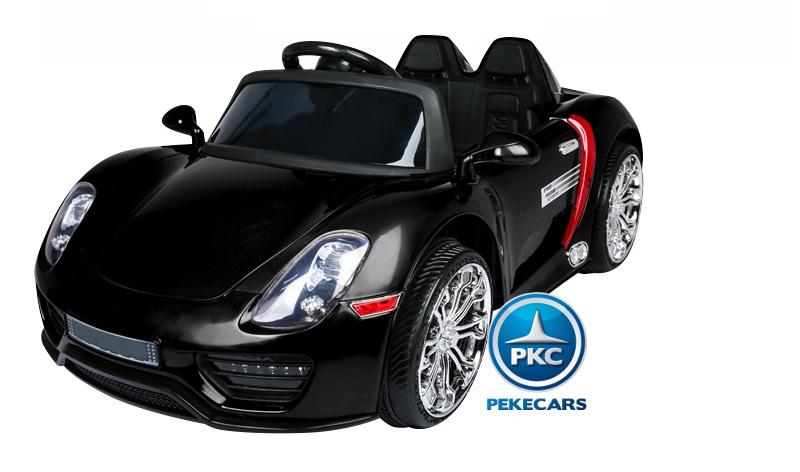 Coche electrico para niños Porsche style negro vista principal