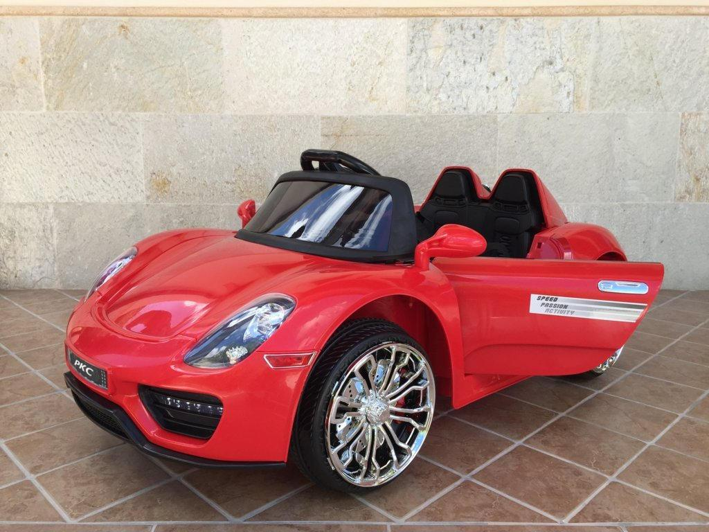 Coche electrico para niños Porsche style rojo vista principal
