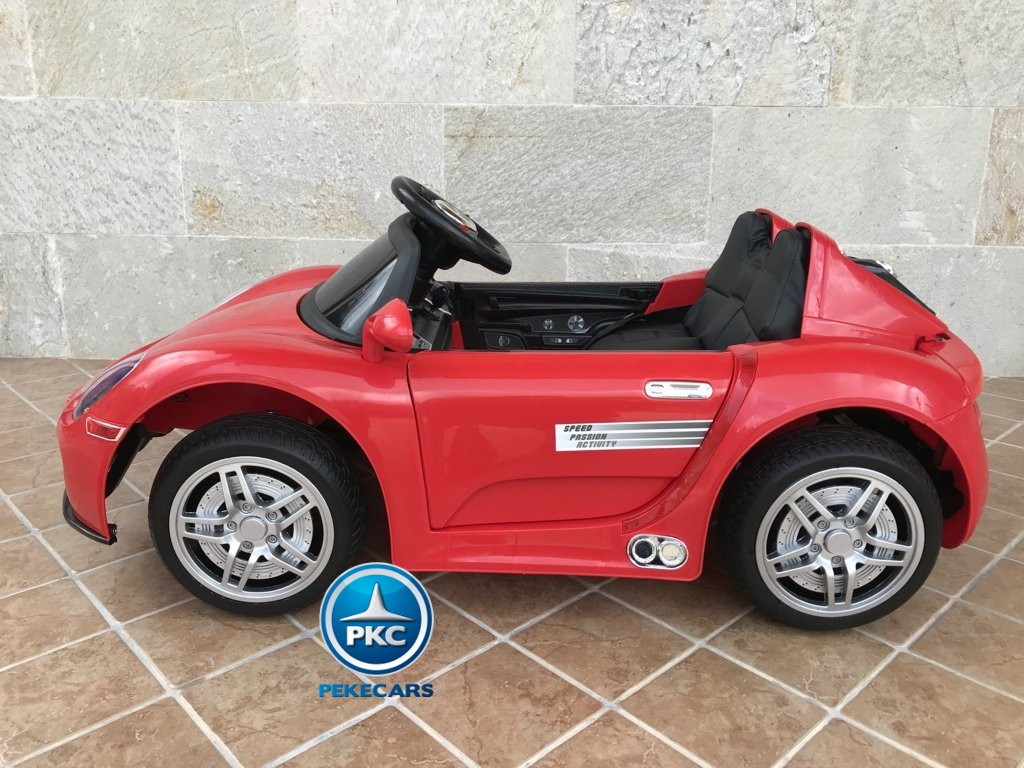 Coche electrico para niños Porsche style rojo