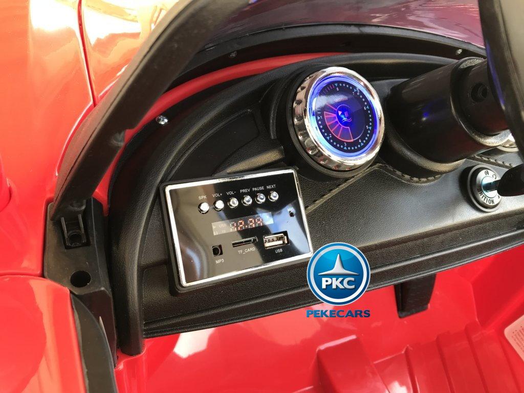 Coche electrico infantil Porsche style rojo dashboard