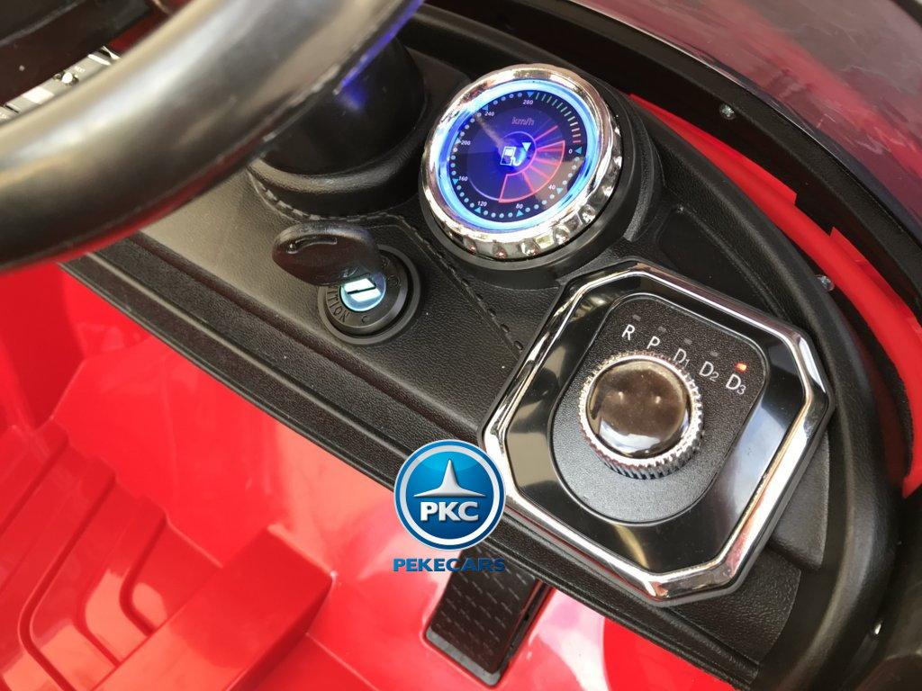 Coche electrico para niños Porsche style rojo llave de encendido