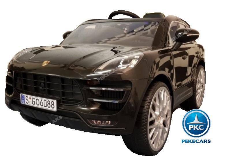 Coche electrico para niños Porsche Macan Negro vista principal