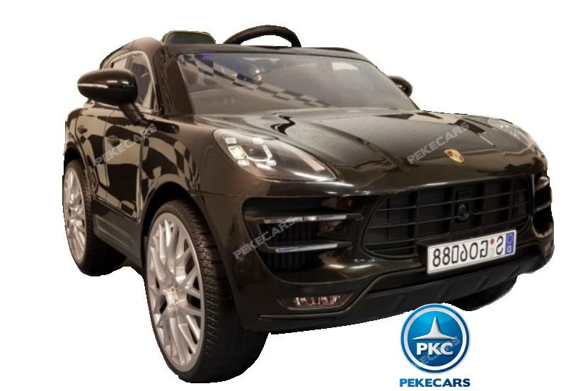 Coche electrico para niños Porsche Macan Negro con apertura de puertas