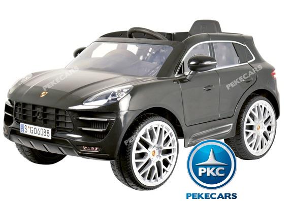 Coche electrico infantil Porsche Macan Negro