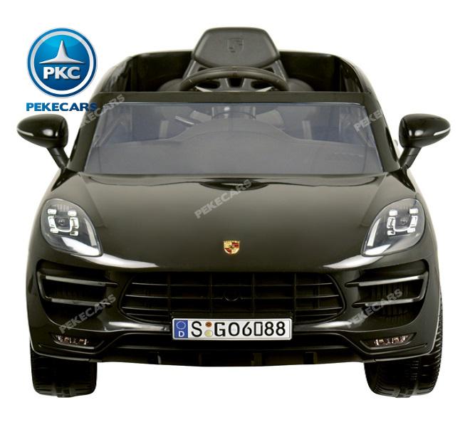 Coche electrico para niños Porsche Macan Negro vista frontal