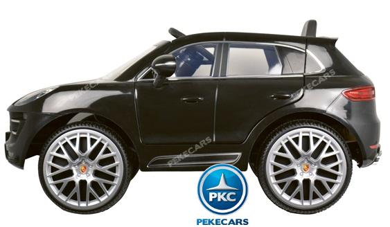 Coche electrico infantil Porsche Macan Negro lateral