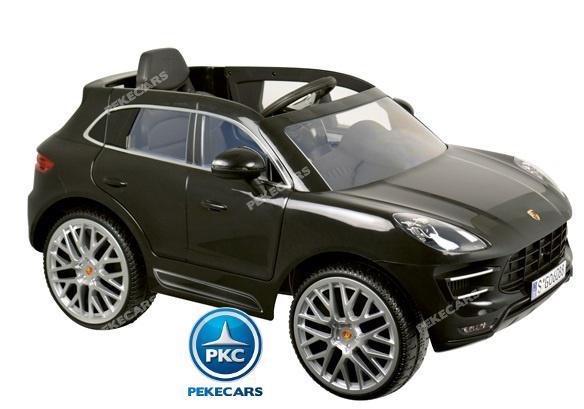 Coche electrico para niños Porsche Macan Negro asiento con cinturon
