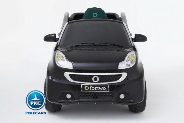 Smart ForTwo 12V 2.4G RC Negro vista frontal
