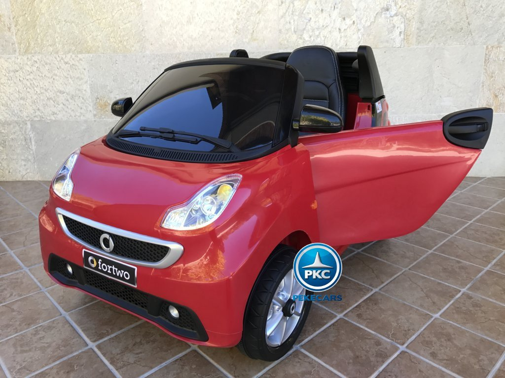Smart ForTwo 12V 2.4G RC rojo vista lateral