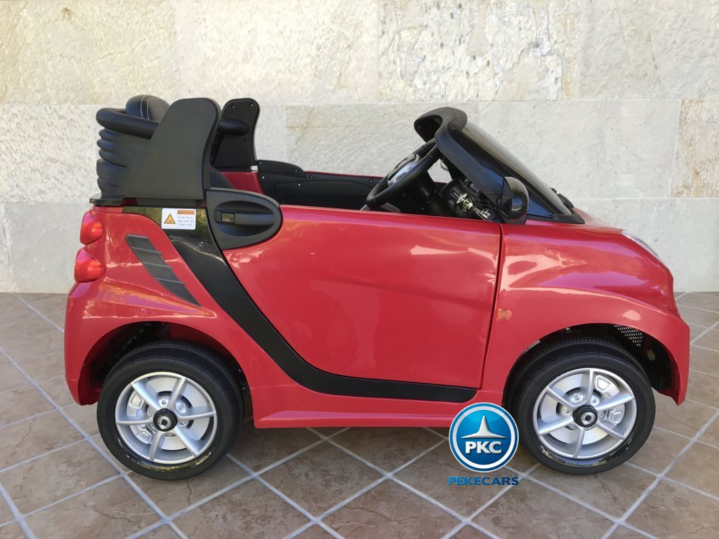 Smart ForTwo parte trasera 12V 2.4G RC rojo
