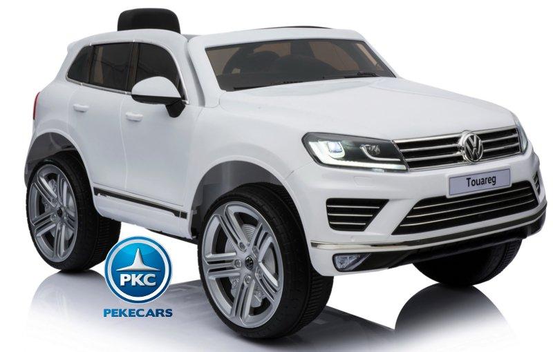 Coche electrico para niños Volkswagen Touareg Blanco vista principal