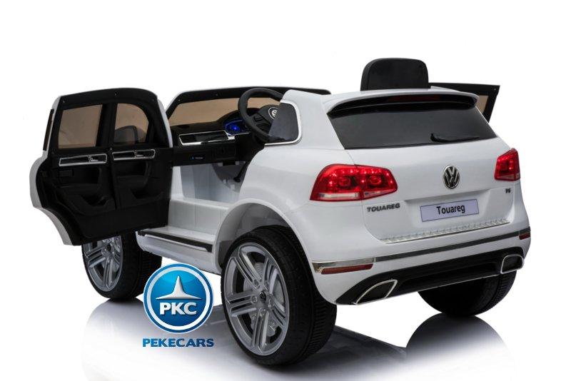 Coche electrico infantil Volkswagen Touareg Blanco