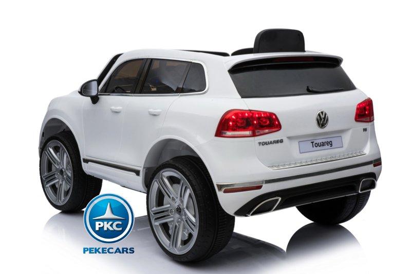 Coche electrico infantil Volkswagen Touareg Blanco con MP4 con radio FM