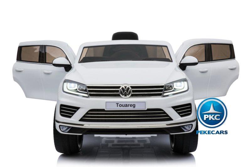 Coche electrico infantil Volkswagen Touareg Blanco con MP4