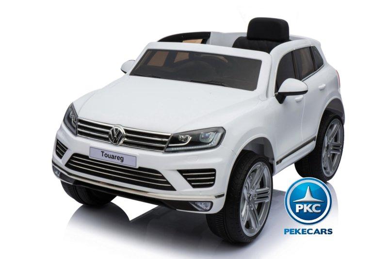 Coche electrico para niños Volkswagen Touareg Blanco con MP4