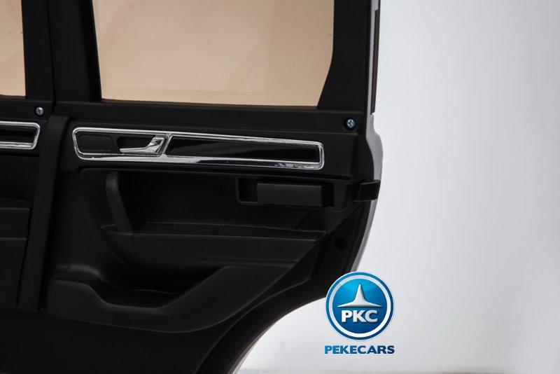 Coche electrico infantil Volkswagen Touareg Blanco con MP4 cierre de la puerta