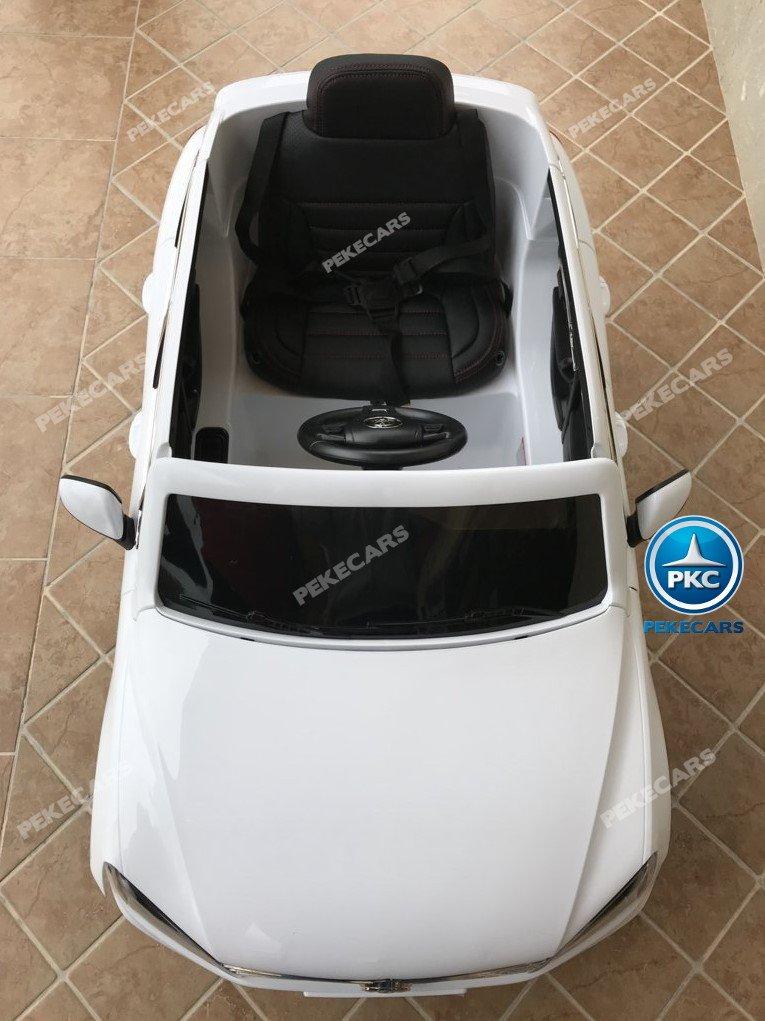 Coche electrico para niños Volkswagen Touareg Blanco con MP4 capo