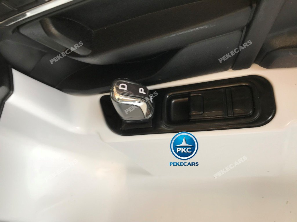 Coche electrico infantil Volkswagen Touareg Blanco con MP4 palanca de marcha