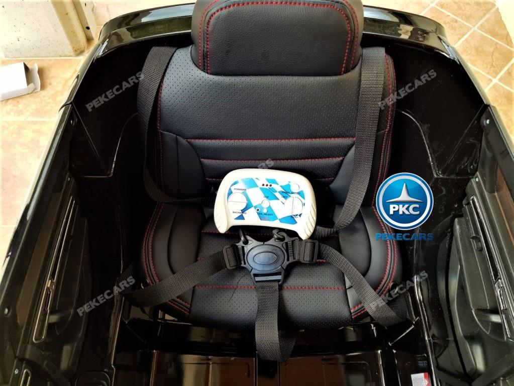 Coche electrico para niños Volkswagen Touareg Negro asiento acolchado en piel