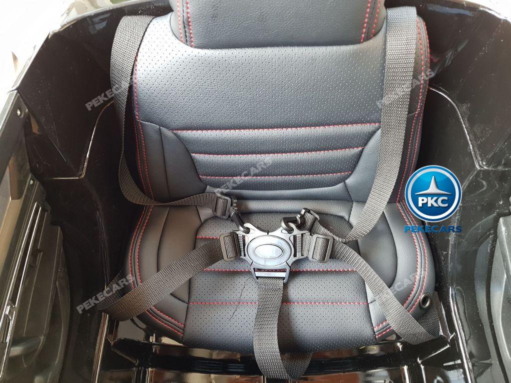 Coche electrico para niños Volkswagen Touareg Negro asiento con cinturon de seguridad