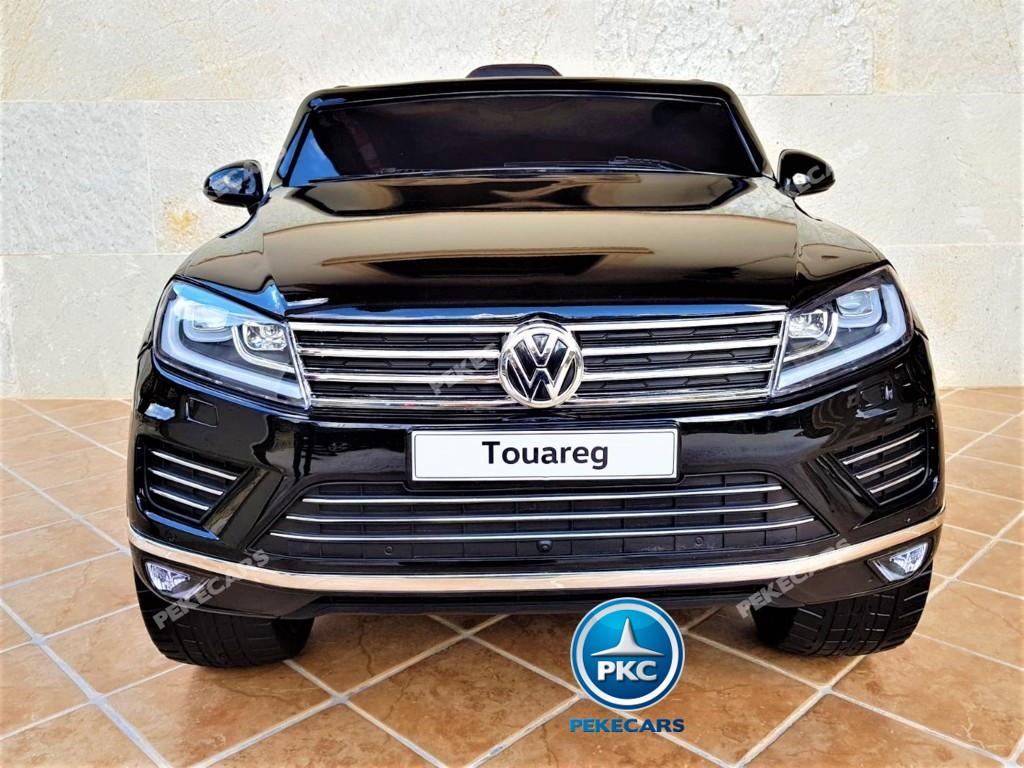 Coche electrico infantil Volkswagen Touareg MP4 Negro vista frontal