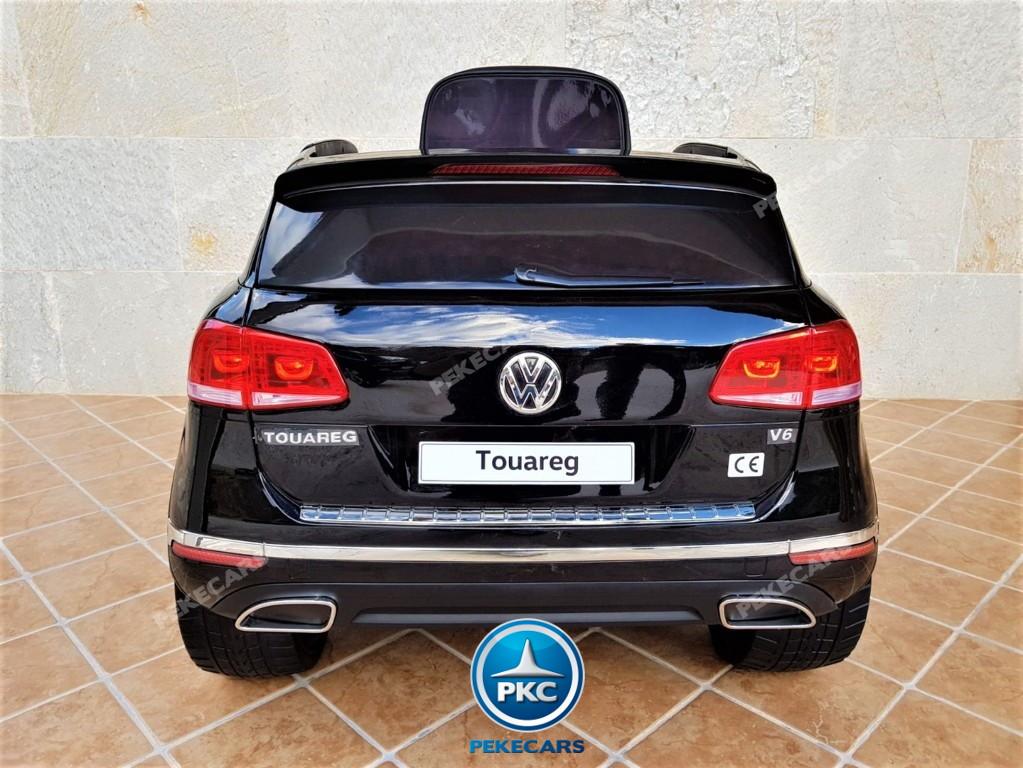 Coche electrico para niños Volkswagen Touareg MP4 Negro vista trasera