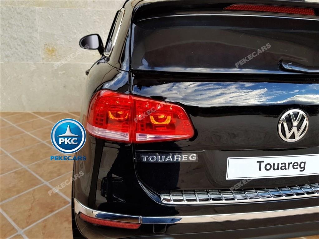 Coche electrico para niños Volkswagen Touareg MP4 Negro luces traseras
