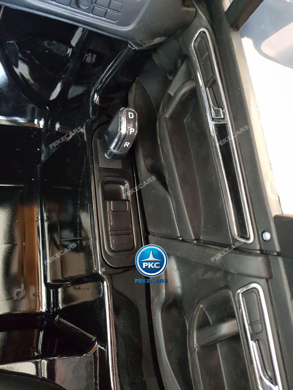 Coche electrico para niños Volkswagen Touareg MP4 Negro palanca de cambio
