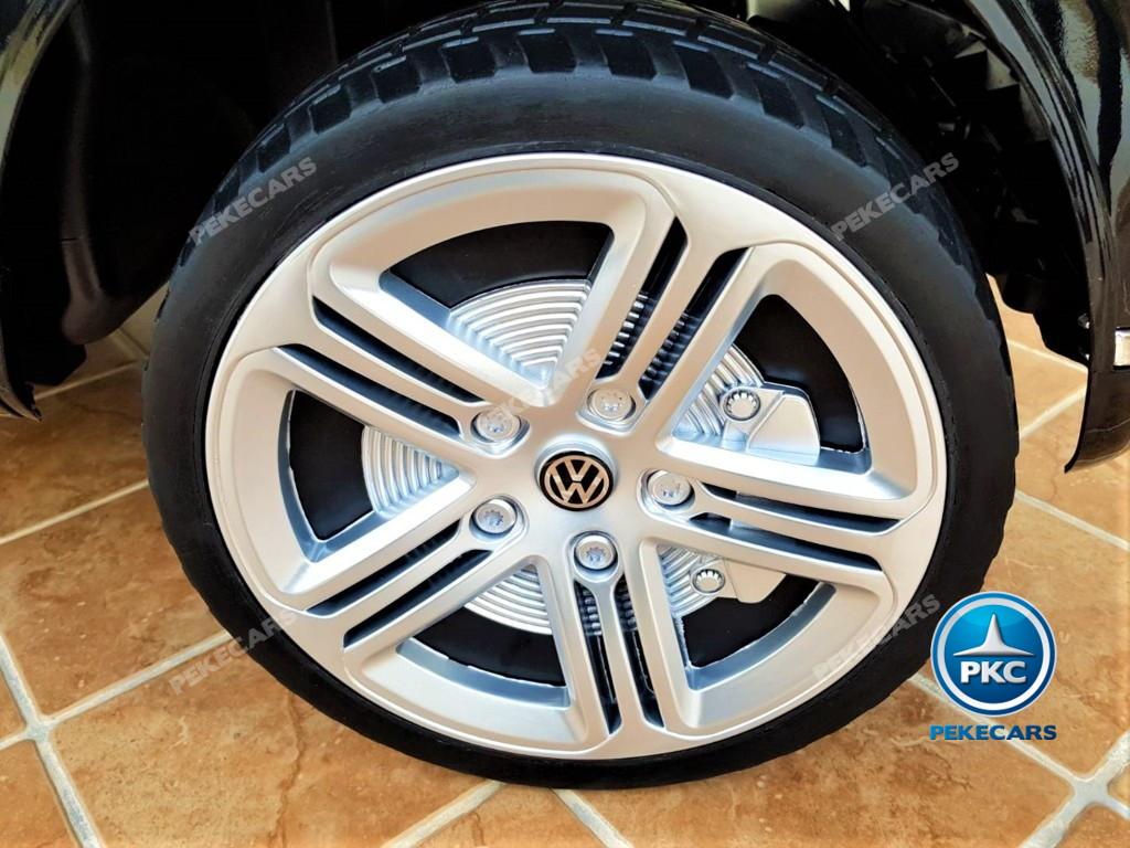 Coche electrico infantil Volkswagen Touareg MP4 Negro ruedas de caucho antipinchazos