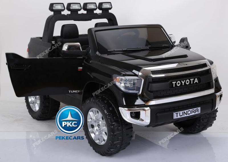Coche electrico para niños Toyota Tundra Negro con apertura de puertas