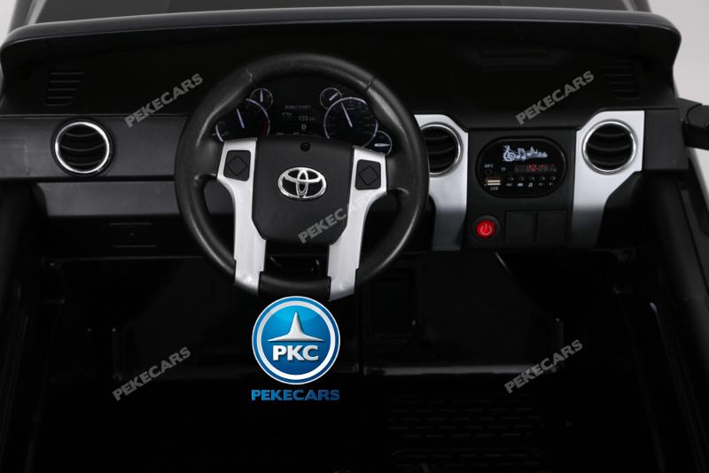Coche electrico para niños Toyota Tundra Negro volante