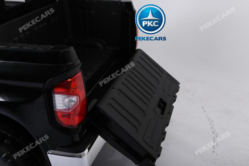 Coche electrico para niños Toyota Tundra Negro maletero