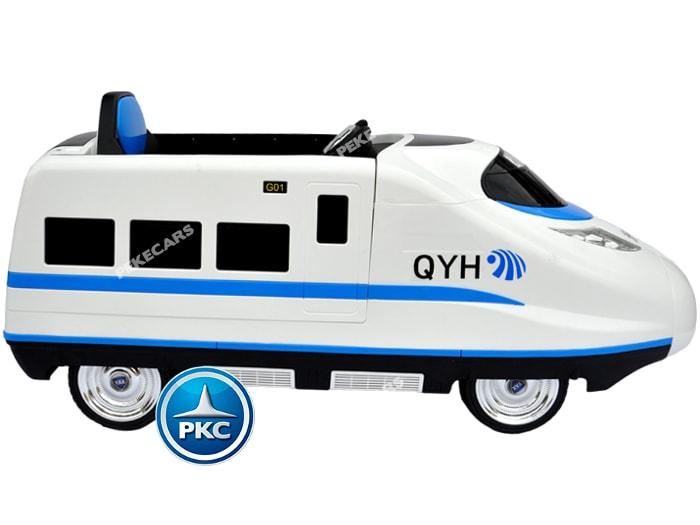 Tren electrico para niños Pekecars Blanco lateral