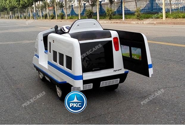 Tren electrico infantil Pekecars Blanco apertura automatica de puertas