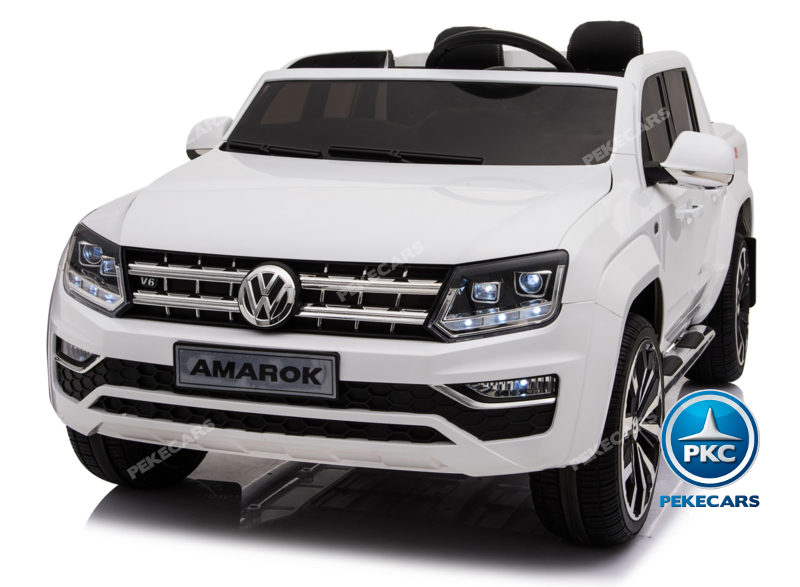Coche electrico para niños Volkswagen Amarok Blanco vista principal
