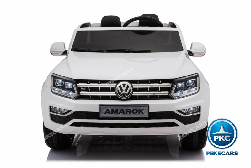 Coche electrico infantil Volkswagen Amarok Blanco vista frontal