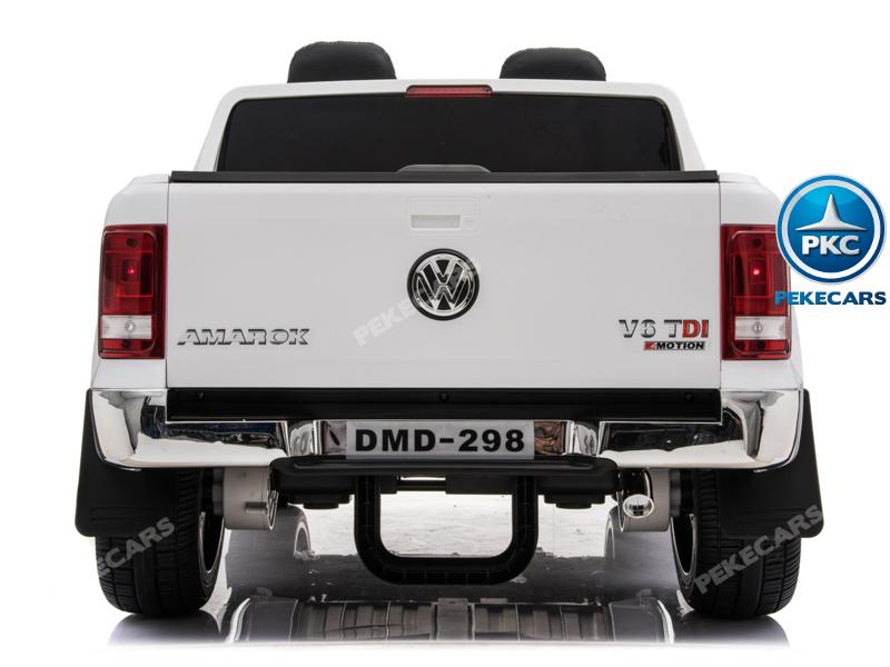 Coche electrico infantil Volkswagen Amarok Blanco trasera