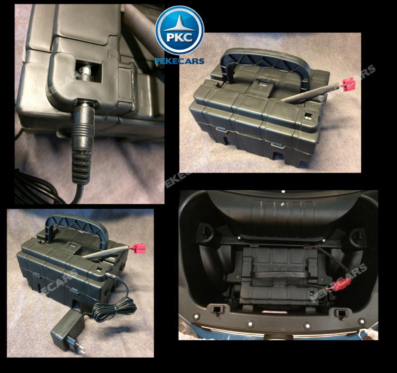Coche electrico para niños Volkswagen Amarok Blanco bateria extraible