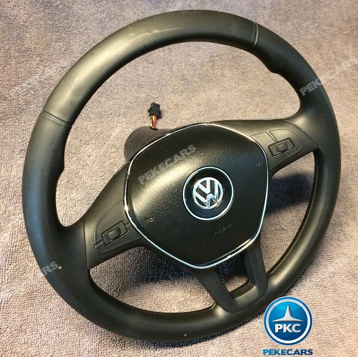Coche electrico infantil Volkswagen Amarok Blanco volante con musica y claxon