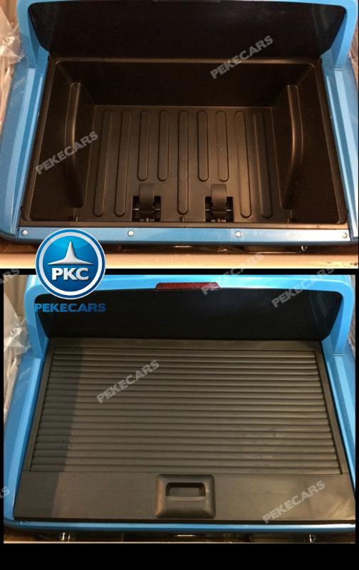 Coche electrico para niños Volkswagen Amarok Blanco maletero trasero
