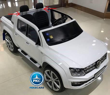 Coche electrico infantil Volkswagen Amarok Blanco