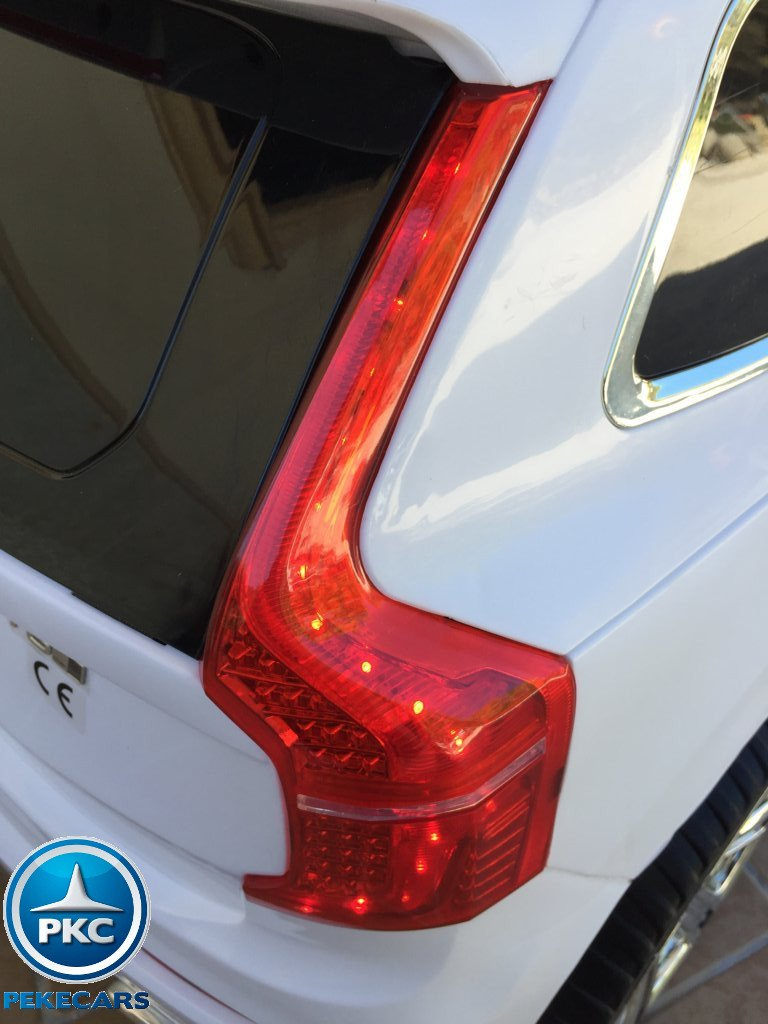 Coche electrico infantil Volvo XC90 Blanco luces traseras