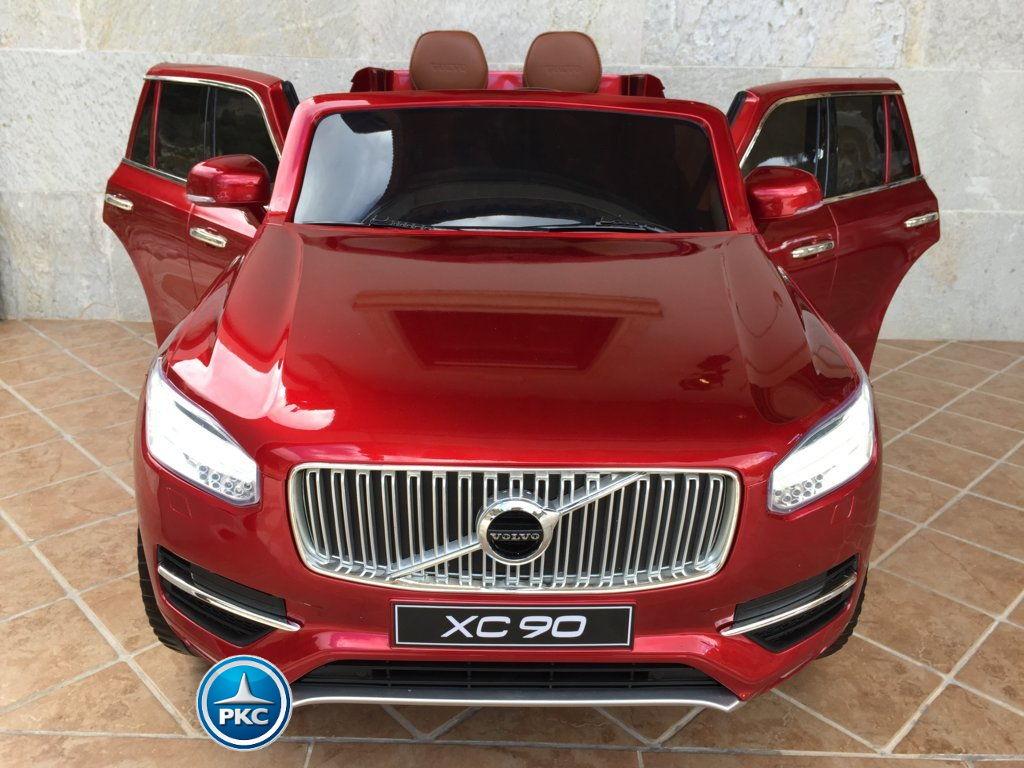 Coche electrico infantil Volvo XC90 Rojo Metalizado vista frontal
