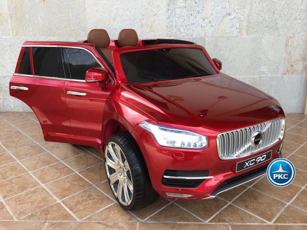 Coche electrico para niños Volvo XC90 Rojo Metalizado con apertura de puertas