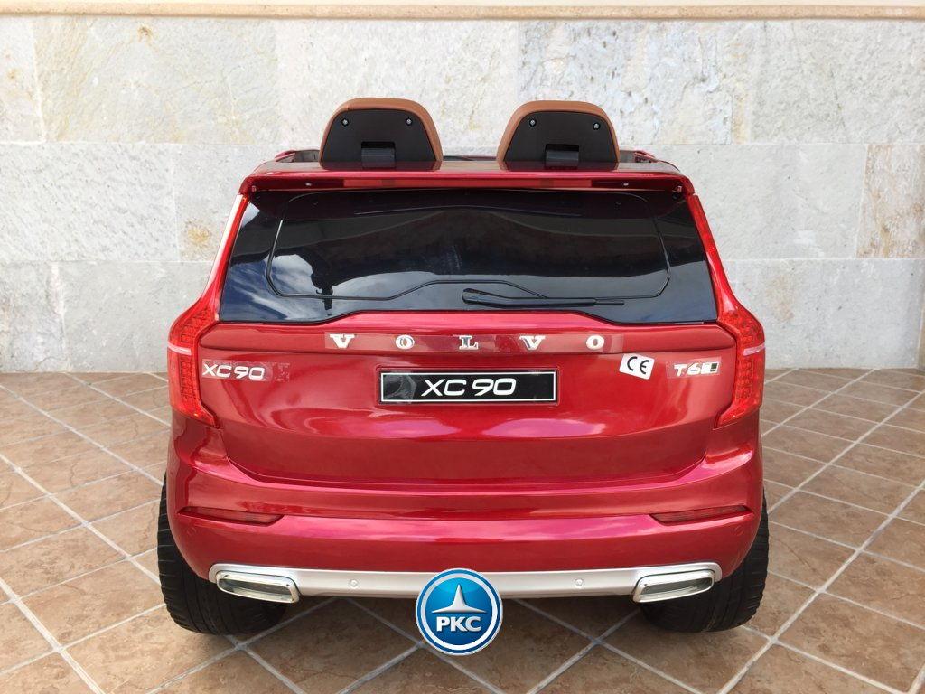 Coche electrico para niños Volvo XC90 Rojo Metalizado trasera