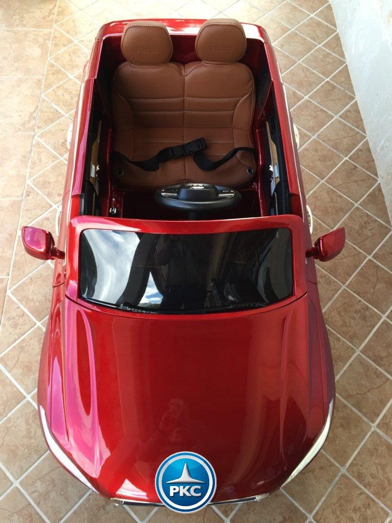 Coche electrico para niños Volvo XC90 Rojo Metalizado capo