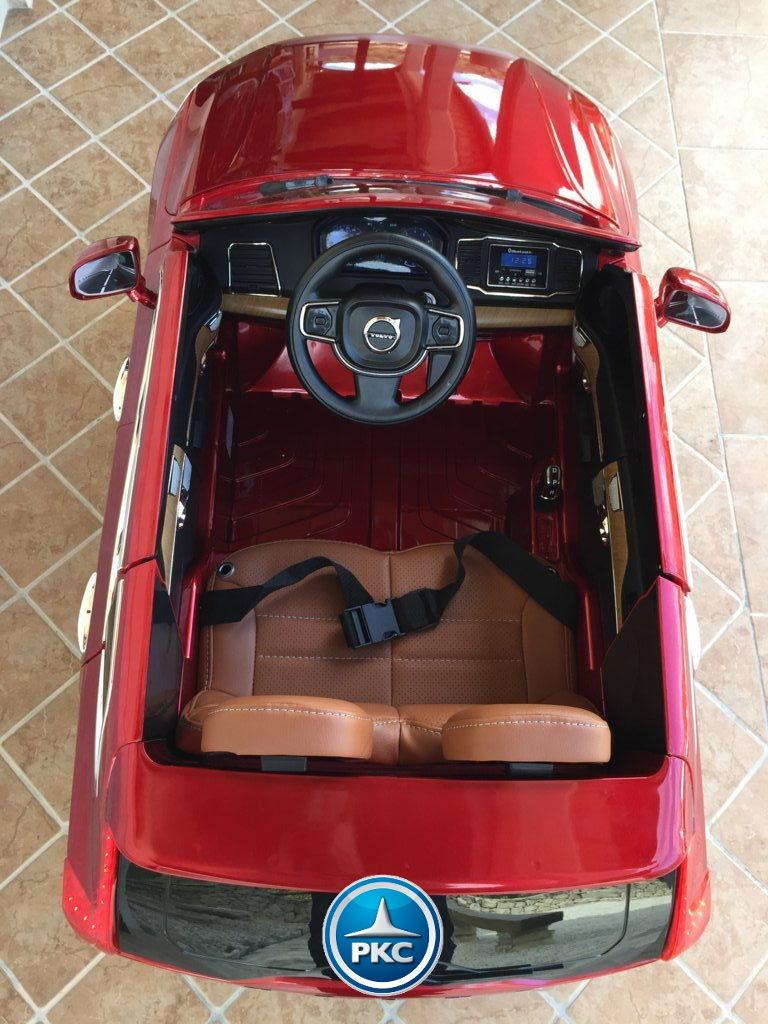 Coche electrico infantil Volvo XC90 Rojo Metalizado detalles del interior